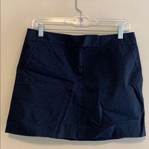 J Crew navy mini skirt
